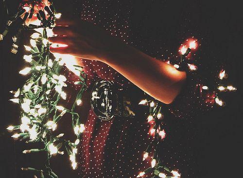 tangled xmas lights